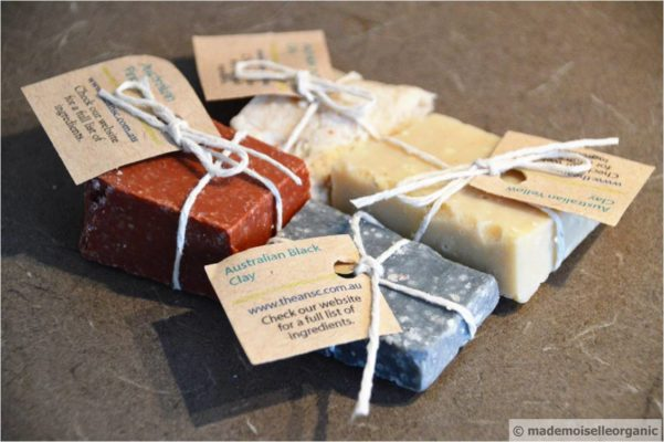 CLAY SOAPS HANDMADE BY THE AUSTRALIAN NATURAL SOAP COMPANY – A MADEMOISELLE ORGANIC REVIEW