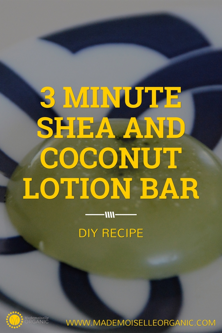3 Minute Shea and Coconut Lotion Bar