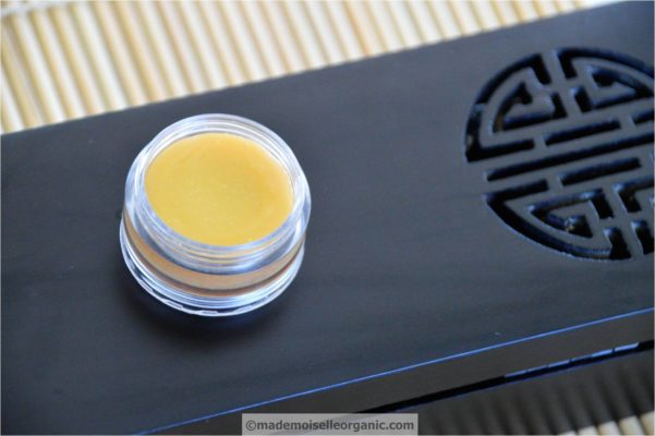 handmade anti-ageing balm with rose wax, shea butter and argan oil