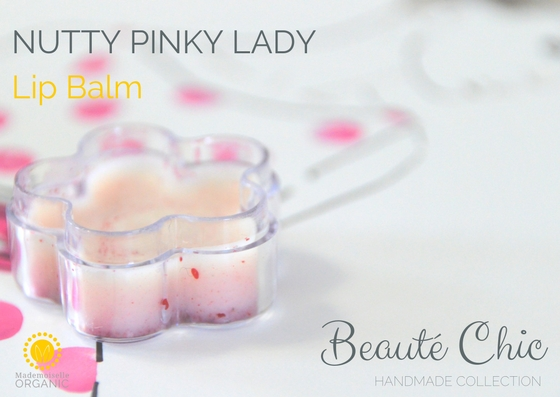 NUTTY PINKY LADY LIP BALM - Beauté Chic- handmade collection by Mademoiselle Organic