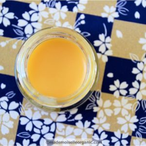 Argan oil and beeswax lip balm