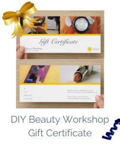 Gift Voucher for one DIY Beauty Workshop
